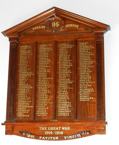 Bendigo High School Roll of Honour : 18-Jun-2013