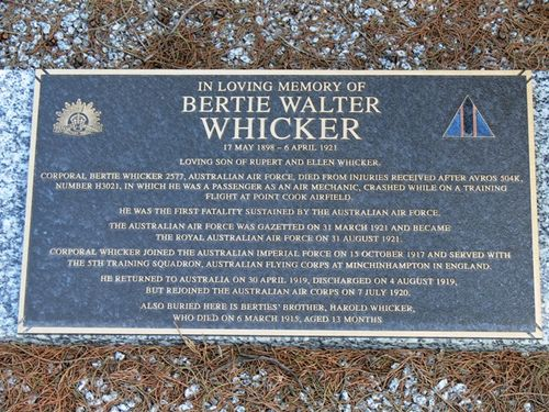 Bertie Whicker : 09-March-2013