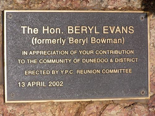 Beryl Evans Plaque : 28-July-2014