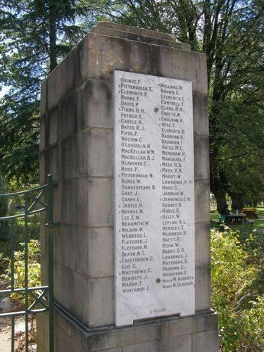 WW1 Honour Roll : 25-03-2014