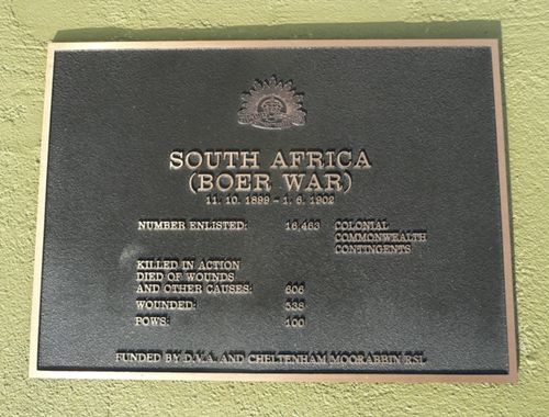 Boer War Plaque : 01-October-2012