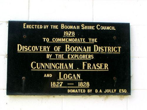 Boonah Explorers Plaque