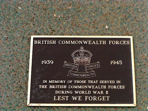 British Commonwealth Forces Plaque