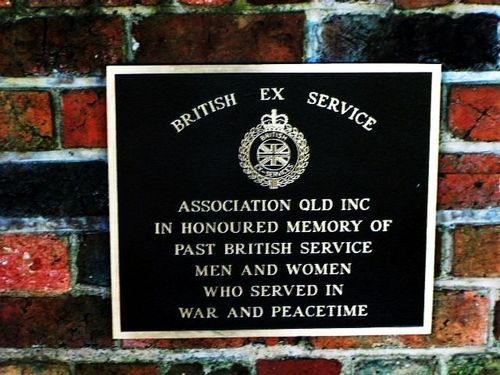 British Ex Service Men + Women Plaque