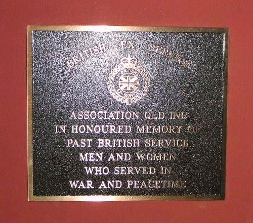British Ex Service Plaque
