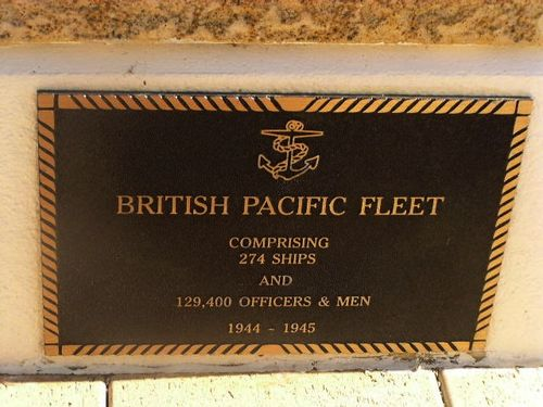 British Pacific Fleet Plaque