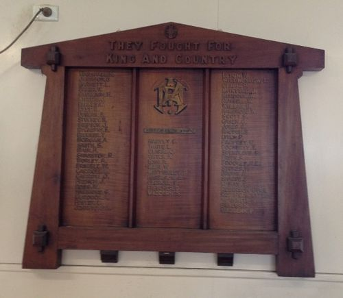 Broadford Paper Mill Honour Roll WW1: November 2013