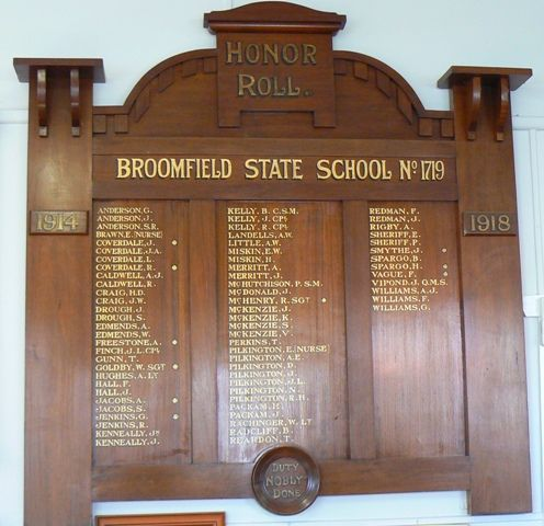Broomfield State School Honour Roll : 20-May-2012