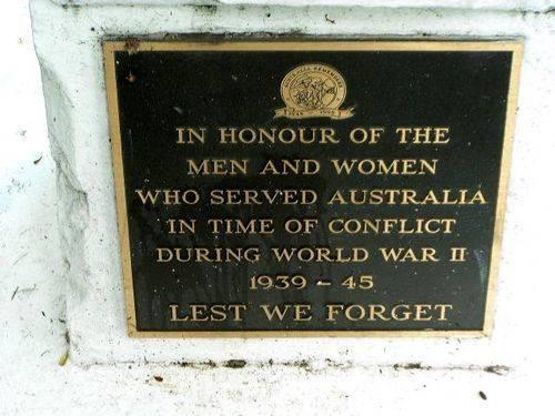 Bulimba WW2 Plaque