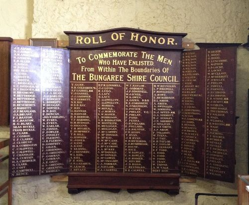 Bungaree Shire Honour Roll : November 2013