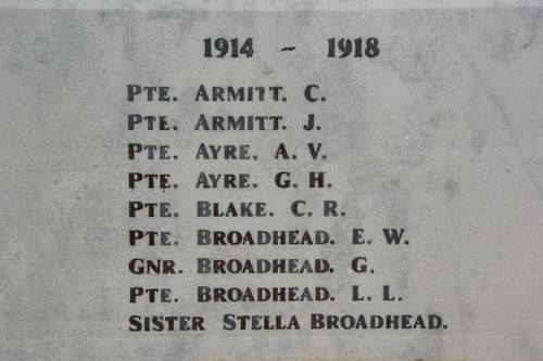 War Memorial Closeup 4 : August-2014