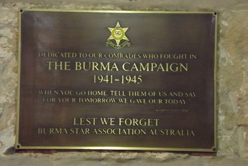Burma Campaign Plaque : March 2014