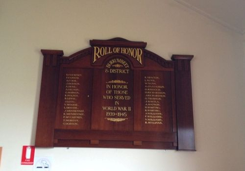 Burrumbeet WW2 Honour Roll : December 2013
