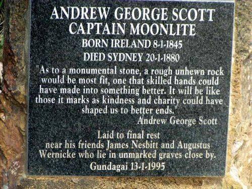 Captain Moonlites Grave Inscription