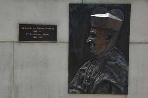 Cardinal Norman Thomas Gilroy Relief Portrait