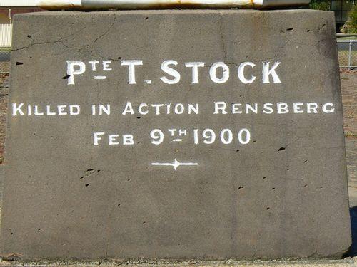 Casterton Boer War Memorial   Left Side