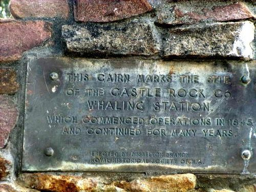 Castle Bay Whaling Monument Inscription