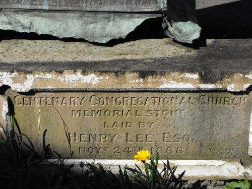 Centenary Congregational Church Memorial Stone 2