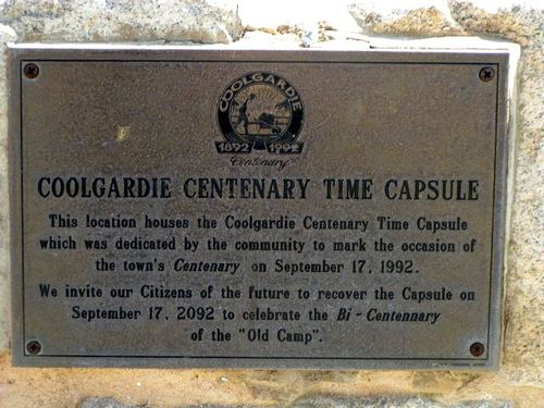 Centenary Time Capsule Plaque