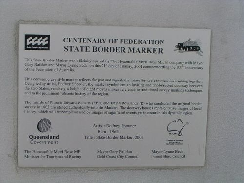 State Boreder Marker Plaque