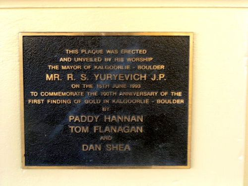 Centenary of Gold Discovery Plaque
