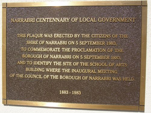 Centenary of Local Government Plaque : 11-August-2014
