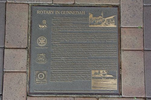 Gunnedah Rotary Plaque : July 2014