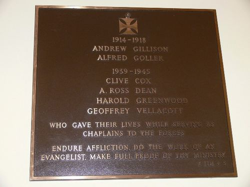 Chaplains Plaque : 13-September-2011