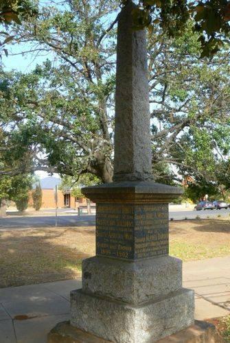 Charlton Boer War Memorial