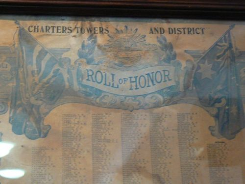 Charters Towers Roll of Honour - World War One : 23-April-2011
