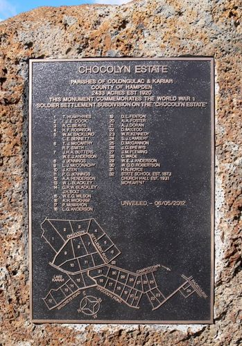 Chocolyn Soldier Settlement : 19-May-2012