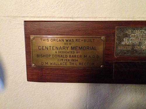 Christ Church Organ Plaque : August-2014
