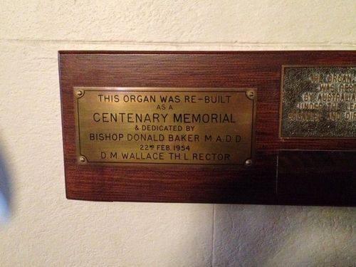 Christ Church Organ Plaque : August-2014