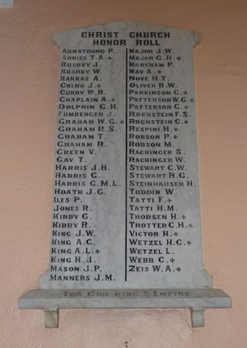 Christ Church Honour Roll : 20-December-2010