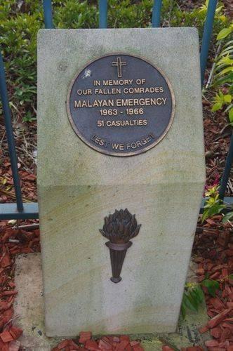 Malayan Emergency Plinth : Feb 2014