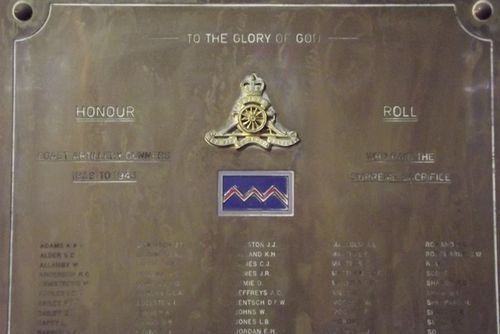 Coast Artillery Gunners Honour Roll : March 2014
