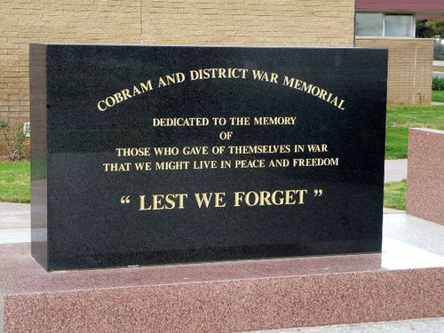 Cobram & District War Memorial : 10-AUgust-2011