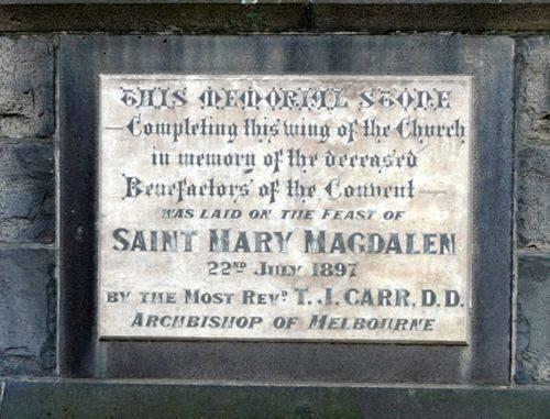 Convent Benefactors : 25-September-2012