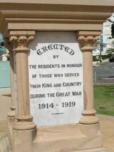 Coolangatta WW1 Inscription
