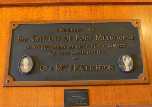 Councillor & Mrs. J. P. Crichton
