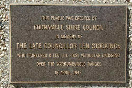 Len Stockings Plaque Inscription : July 2014