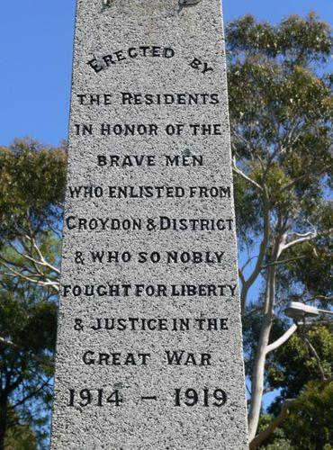 Croydon War Memorial : 26-November-2011