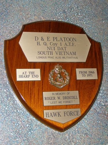 D & E Platoon Plaque : 01-August-1945