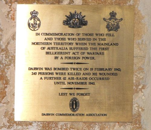 Darwin Commemoration Association Plaque/ May 2013