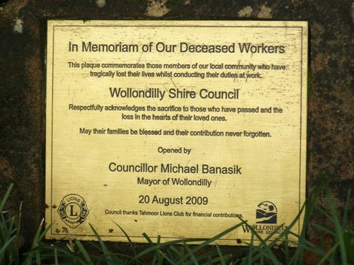 Deceased Workers Plaque : 13-June-2014