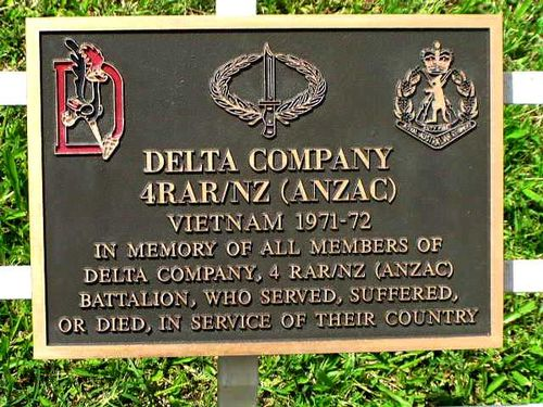 Delta Company 4RAR/NZ Plaque / March 2013