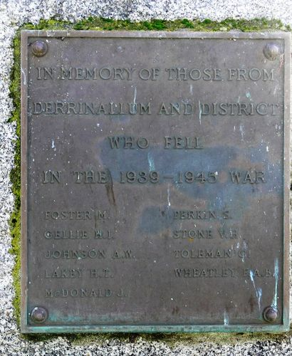 Derrinallum War Memorial : 04-July-2011