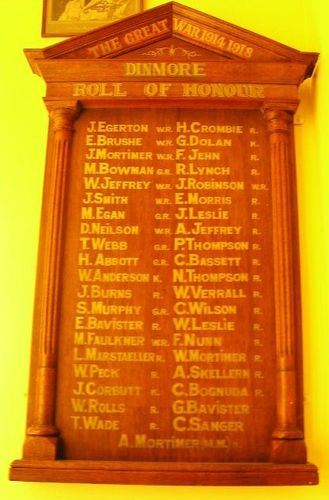 Dinmore Roll of Honour