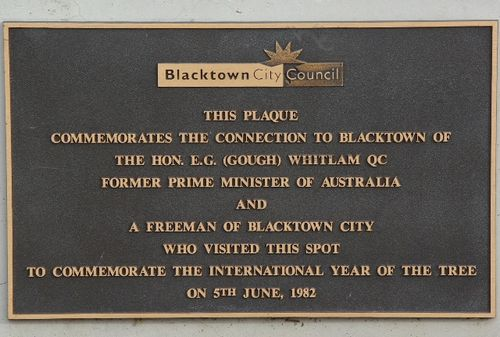 Gough Whitlam Plaque : Feb 2014