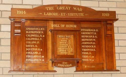 Eastville State School Honour Roll : 01-June-2013